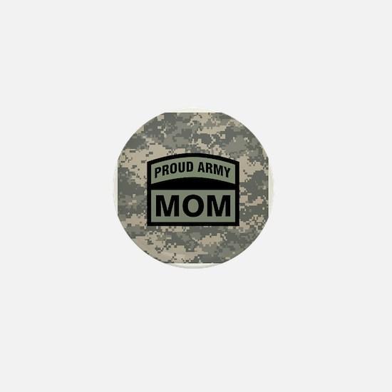 Proud Army Mom Camo Mini Button