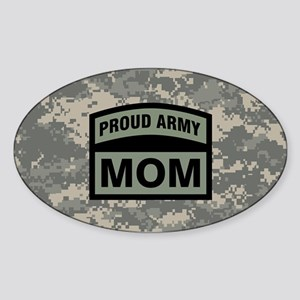 Proud Army Mom Camo Sticker (Oval)
