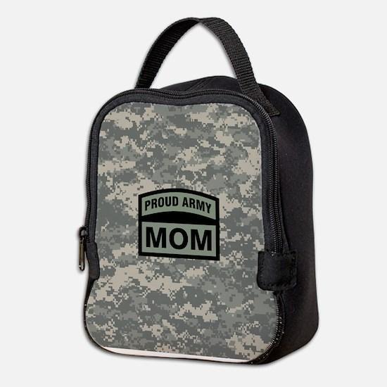 Proud Army Mom Camo Neoprene Lunch Bag