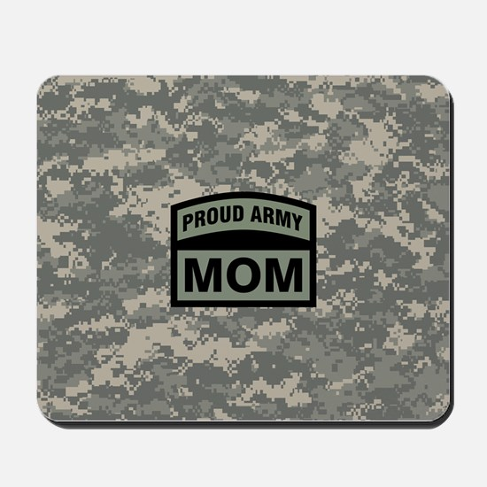 Proud Army Mom Camo Mousepad