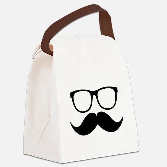 Mr. Stache Canvas Lunch Bag