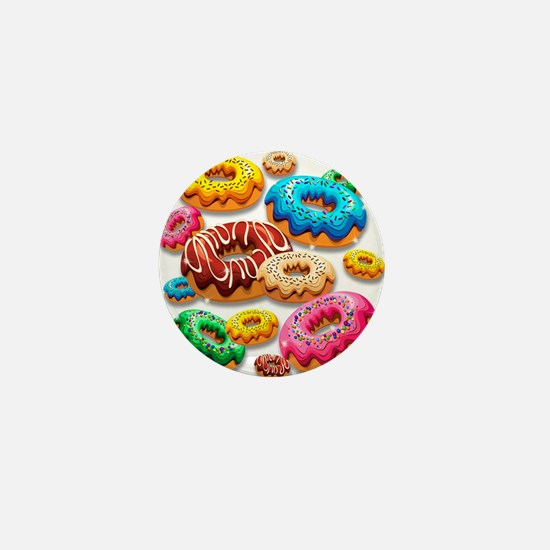 Donuts Party Time Mini Button