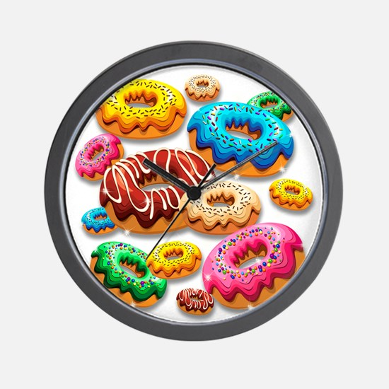 Donuts Party Time Wall Clock