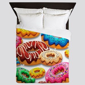 Donuts Party Time Queen Duvet