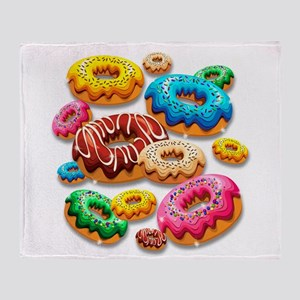 Donuts Party Time Throw Blanket