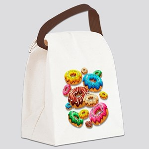 Donuts Party Time Canvas Lunch Bag
