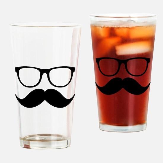Mr. Stache Drinking Glass
