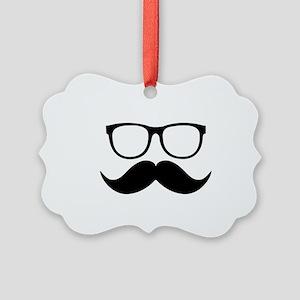 Mr. Stache Picture Ornament