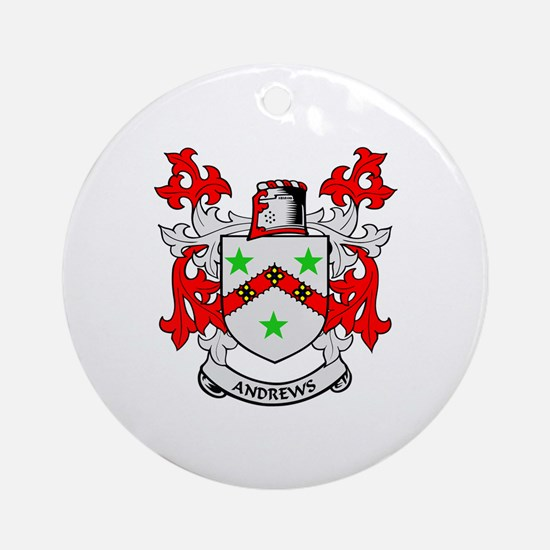 ANDREWS Coat of Arms Ornament (Round)