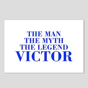 The Man Myth Legend VICTOR-bod blue Postcards (Pac