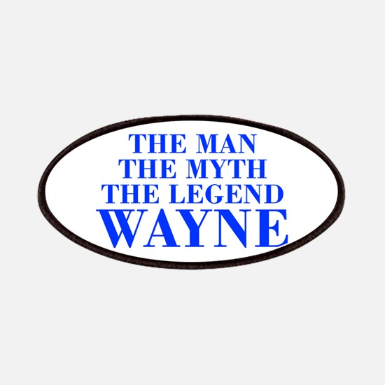 The Man Myth Legend WAYNE-bod blue Patches