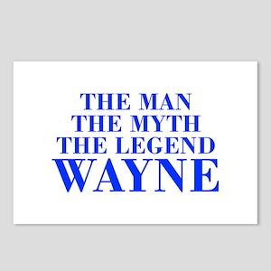 The Man Myth Legend WAYNE-bod blue Postcards (Pack