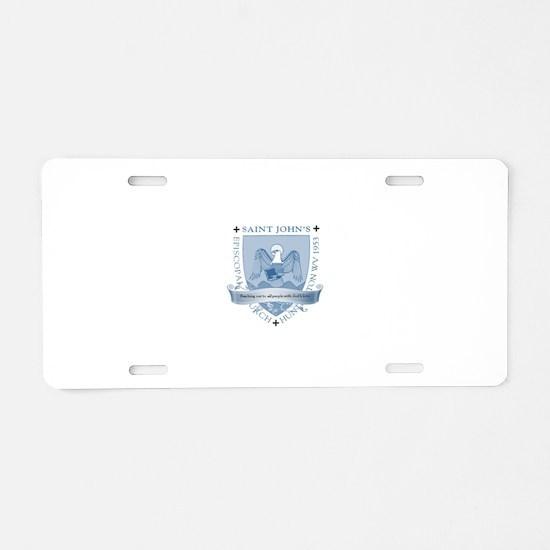 St. John's Shield Aluminum License Plate