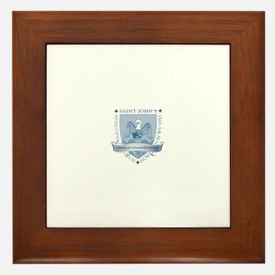 St. John's Shield Framed Tile