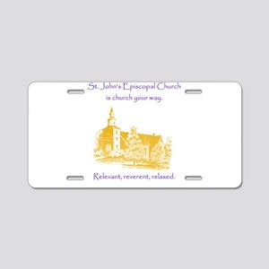 St. Johns is church your way. Aluminum License Pla