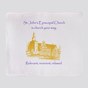St. Johns is church your way. Throw Blanket