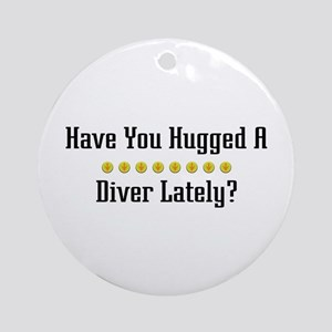 Hugged Diver Ornament (Round)