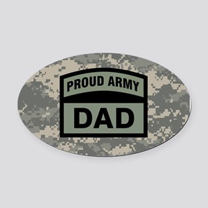 Proud Army Dad Camo Oval Car Magnet