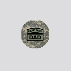 Proud Army Dad Camo Mini Button