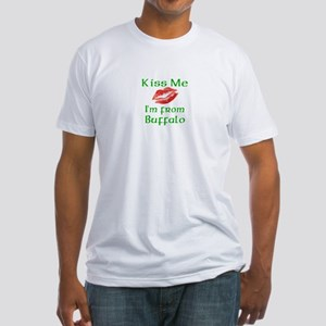 Kiss Me I'm from Buffalo Fitted T-Shirt