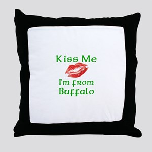 Kiss Me I'm from Buffalo Throw Pillow