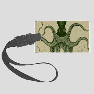 Vintage Octopus in green on beige water shadow tex