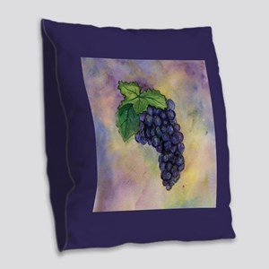 Red Wine Grapes Burlap Throw Pillow