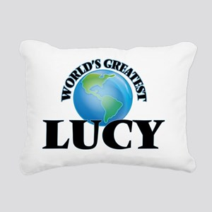 World's Greatest Lucy Rectangular Canvas Pillow
