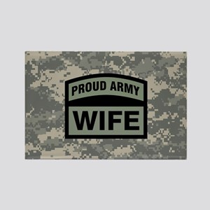 Proud Army Wife Camo Rectangle Magnet
