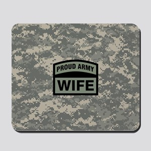 Proud Army Wife Camo Mousepad