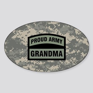 Proud Army Grandma Camo Sticker (Oval)