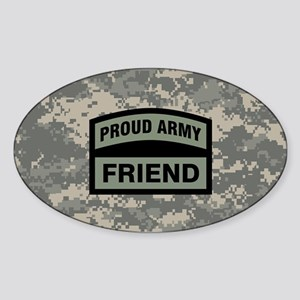 Proud Army Friend Camo Sticker (Oval)