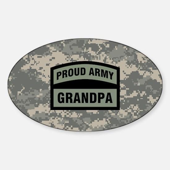 Proud Army Grandpa Camo Sticker (Oval)