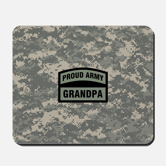 Proud Army Grandpa Camo Mousepad