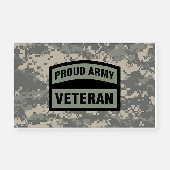 Proud Army Veteran Camo Rectangle Car Magnet