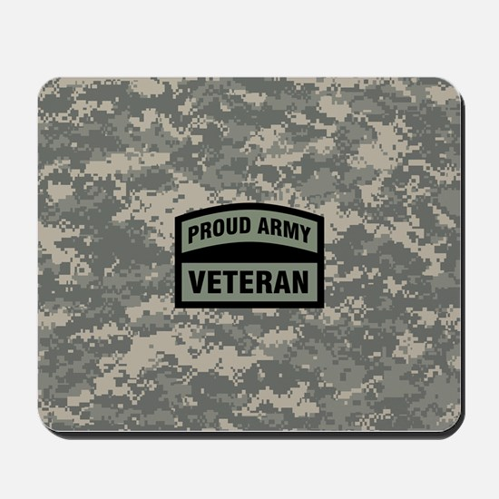Proud Army Veteran Camo Mousepad