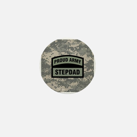 Proud Army Stepdad Camo Mini Button