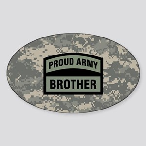 Proud Army Brother Camo Sticker (Oval)