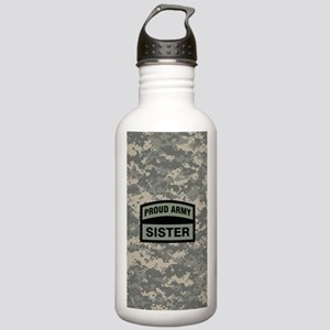 Proud Army Sister Camo Stainless Water Bottle 1.0L