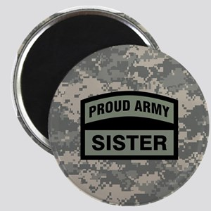 Proud Army Sister Camo Magnet
