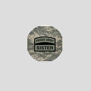 Proud Army Sister Camo Mini Button