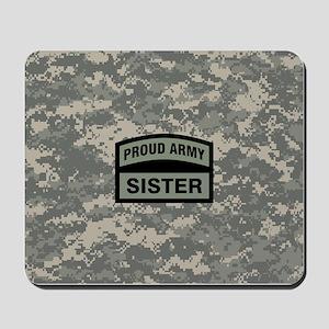 Proud Army Sister Camo Mousepad