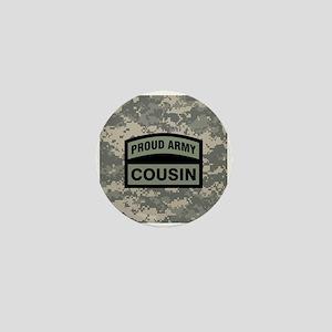 Proud Army Cousin Camo Mini Button