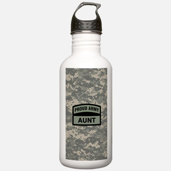 Proud Army Aunt Camo Water Bottle