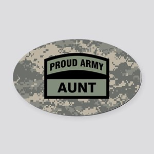 Proud Army Aunt Camo Oval Car Magnet