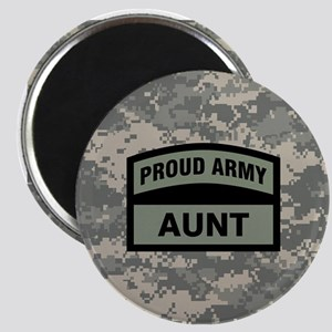 Proud Army Aunt Camo Magnet