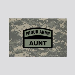 Proud Army Aunt Camo Rectangle Magnet