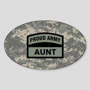 Proud Army Aunt Camo Sticker (Oval)