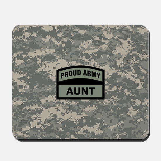 Proud Army Aunt Camo Mousepad