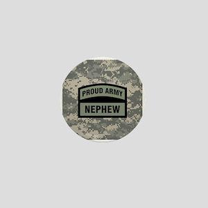 Proud Army Nephew Camo Mini Button